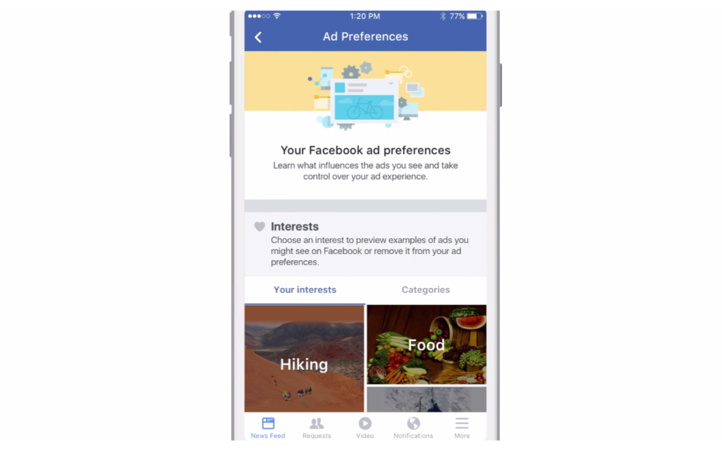 Facebook Ad Preferences 2